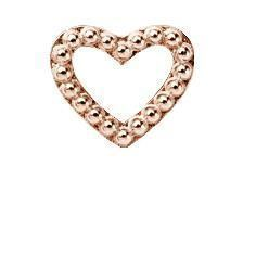 Christina Collect rosa forgyldt charms - Heart Dots