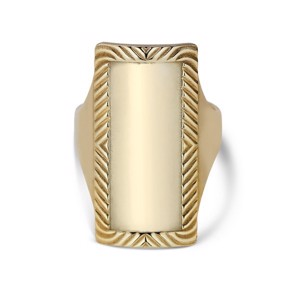 Jane Kønig - Impression Armour ring i forgyldt, IAR01HOL2000-G