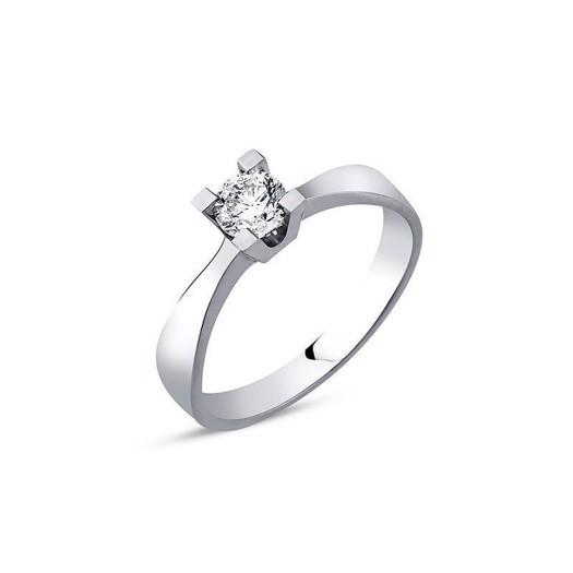 Diamant 14 kt. Hvidguldsring med 0,25 diamant