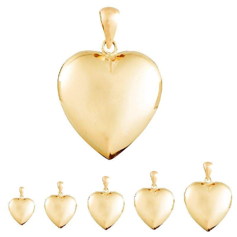 df1b89cab17 Hjerte guld vedhæng i 8-14 karat guld - SPAR 15% fra Noa