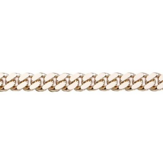 Panser Facet 14 kt guld armbånd - 21 cm med plade - 3,05 mm