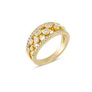 TUBE Diamantring i 14kt guld med diamanter - R1060 067