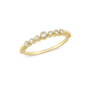 TUBE Diamantring i 14kt guld med diamanter - R1062 015rg