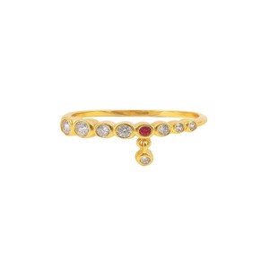 Hultquist - Ruby ring i forgyldt sølv - S08016 G