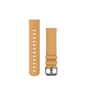 Garmin urremme - Quick release 20mm. Tan ruskind