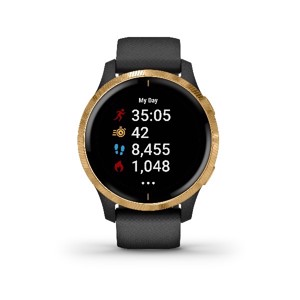 Garmin - Venu, GPS Smart watch, Black/ Gold