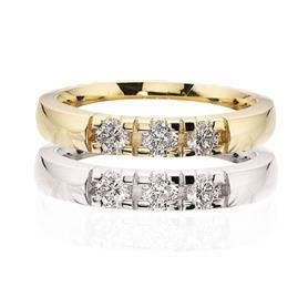 Grace Alliance ring 14 kt. 3 x 0,07