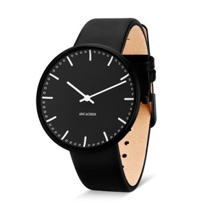 Arne Jacobsen Sort City Hall ur Ø40 mm | SPAR 10%