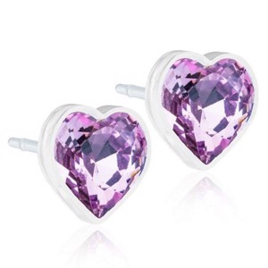 Blomdahl - Ørering Heart Light Amethyst Ø6 mm 15-0121-74
