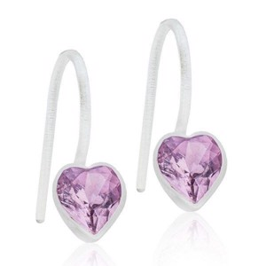 Blomdahl - Ørehænger Heart Light Amethyst Ø6 mm 15-0180-2174