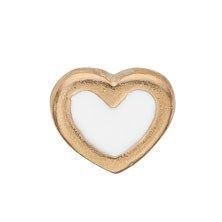 Christina collect - Element -  White Enamel Heart