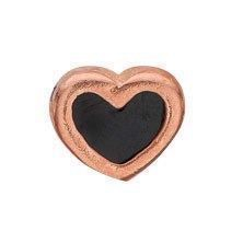 Christina collect - Rosa forgyldt Element - Black Enamel Heart