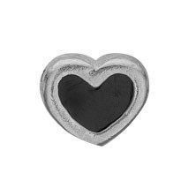 Christina collect - Element - Black Enamel Heart - 603-S4