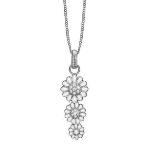 Christina Jewelry - Sølv halskæde Triple Marguerite