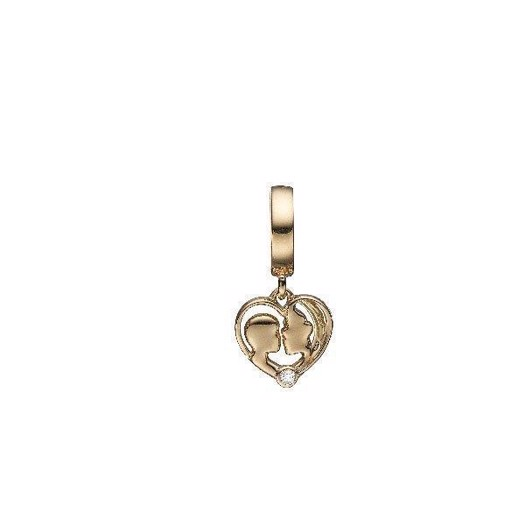 Christina Jewelry - Forgyldt charm Mother and Child