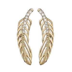 Christina Collect - Forgyldte crawlers - Topaz Feather 672-G07