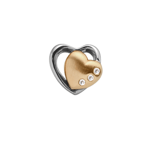Christina Collect forgyldt charms - Topaz 2-Heart