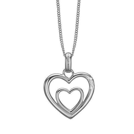 Christina Collect - Sølv halskæde TWO OPEN HEARTS