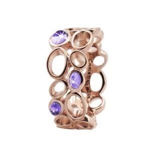 "Christina Collect ROSA forgyldt sølv Ring ""BIG AMETHYST BUBBLES"""