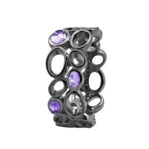 "Christina Collect Sort Sølv ring ""BIG AMETHYST BUBBLES"""
