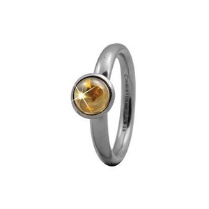 "Christina Collect Sølv Ring ""ROUND CITRINE"""