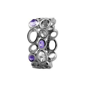 "Christina Collect Sølv Ring ""BIG AMETHYST BUBBLES"""