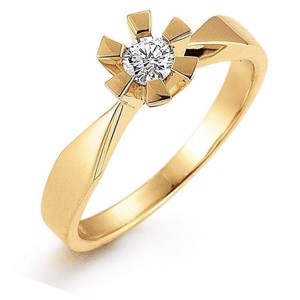 Eternity 14 kt. Guldring 0.05 -0.50 ct*