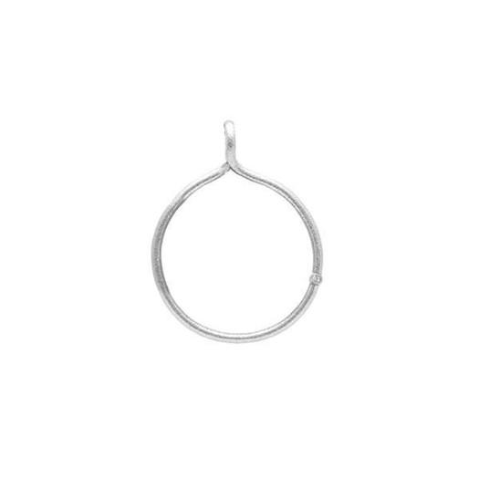 Billede af Drømmefanger vedhæng i sølv med 1x0,02 ct diamant - Vælg størrelse