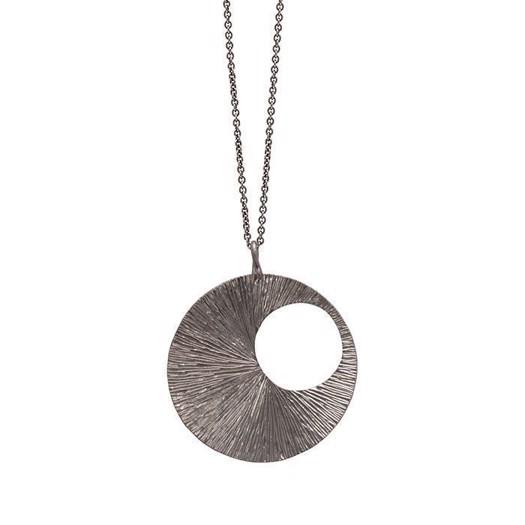 Billede af Drømmefanger vedhæng i sort sølv - Stor