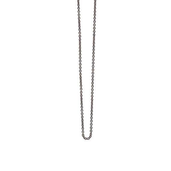 dd69c8c5aa1 Sort rhodineret sølv kæde til drømmefanger og fjer vedhæng - Heiring