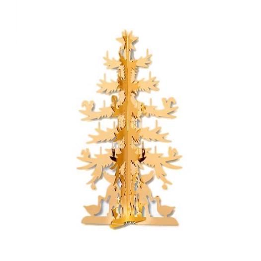 H.C. Andersen Julepynt - Forgyldt papirklip - Mellem juletræ