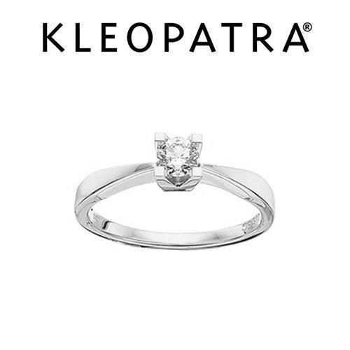 83805c76ba0 Kleopatra 14 kt hvidguld diamant ring med 0,10 ct. - Shop med -15 %