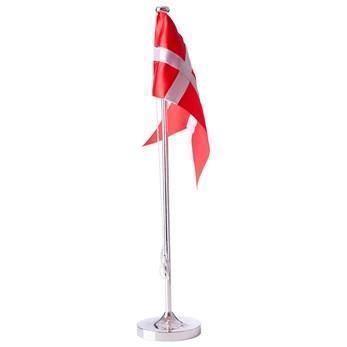 Hejl flagstang 38,5 cm - Forkromet med motiv