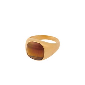 Tiger Eye Ring i forgyldt by CORYDON - r-821-gp