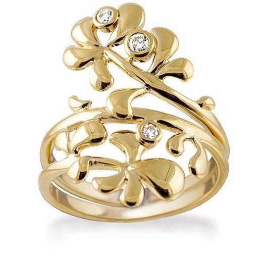 Rabinovich GOLD Collection - Posy - Guld Ring med Diamanter