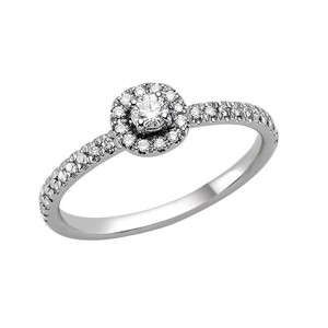 Sofia Diamant Ring - 14 karat Hvidguld med 0,25 ct Diamanter