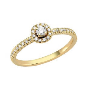 Sofia Diamant Ring - 14 karat Rødguld med 0,25 ct Diamanter