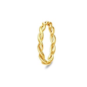 Spinning Jewelry forgyldt ring - Braided
