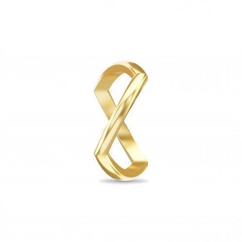 Spinning jewelry forgyldt sølv ring - Crossing gold paths