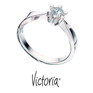 Victoria diamantring med 0,05 ct. TW/SI fra Scrouples